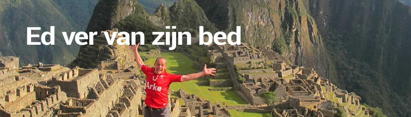Ed ver van zijn bed